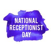 National Receptionist Day. Holiday, celebration, card, poster, logo, letterin Stock Illustration
