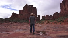 Cowboy Western, ARCHES NATIONAL PARK Stock Footage