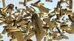 Gold bullions reveal success animation Stock Footage
