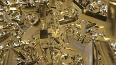 Gold-bullions-moving background Stock Footage