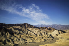 6K Time Lapse of Desert Landscape at Zabriskie Point in Death Valley  Stock Footage