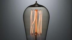 Closeup flashing light bulb Stock Footage