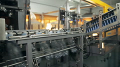 A manufacturing of plastic bottles for water Stock Footage