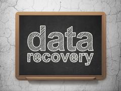 Data concept: Data Recovery on chalkboard background - stock illustration