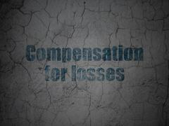 Money concept: Compensation For losses on grunge wall background Stock Illustration