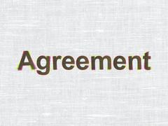 Business concept: Agreement on fabric texture background - stock illustration