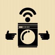 smart appliances design - stock illustration