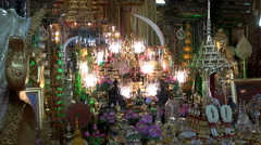 Buddhist Altar - Zoom In Stock Footage