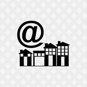 smart house design - stock illustration