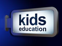 Learning concept: Kids Education on billboard background Stock Illustration