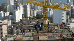 Men Working at Construction Site Stock Footage