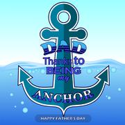 Best Dad Poster  on Blue Water Background. - stock illustration