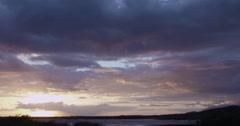 4K: Hawaiian/Maui Sunset on Scenic Shore Break Stock Footage