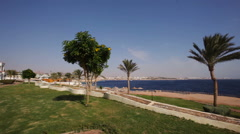 Beautiful white building architecture of the hotel in Egypt Stock Footage