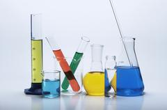 Chemical lab glassware - stock photo