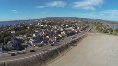 Mission Bary Aerial 6 Stock Footage