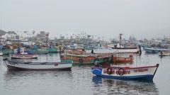 Peruv Fishing Town Stock Footage
