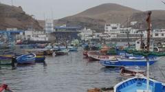 Peruv Fishing Town 3 Stock Footage