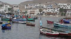 Peruv Fishing Town 4 Stock Footage
