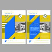 Annual Report Leaflet Brochure Flyer Template - stock illustration