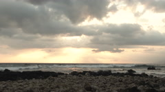 Sunset From The Hawaiian Islands Time Lapse Stock Footage