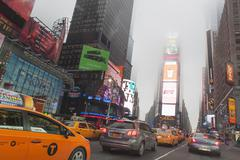 Traffic and mist, Times Square, New York City, USA Kuvituskuvat