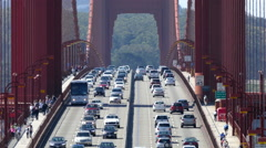 San Francisco Golden Gate Bridge Traffic Time Lapse with Zoom Out Stock Footage