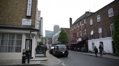 London: pub and taxi, England - stock footage