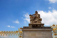 Detail of Versailles palace Stock Photos