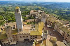 Aerial view of San Gimignano, Tuscany, Italy Stock Photos