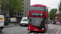 Traditional English double decker bus: Routemaster Stock Footage