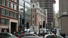 Restoration of the building, London, England Stock Footage
