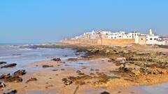 Essaouira beautiful city on Atlantic Ocean in Morocco Stock Footage
