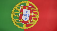 Closeup of Portuguese nation flag Stock Footage