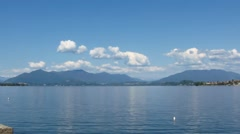 Clouds over lake maggiore italy - time lapse Stock Footage