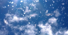 Backlit Bug Swarm against Cloudy Blue Sky Stock Footage