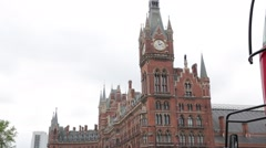 St Pancras railway station, London, England Stock Footage