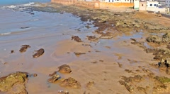 Essaouira beautiful city on Atlantic Ocean in Morocco Stock Footage