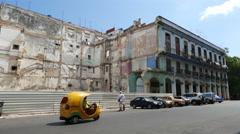 Havana Streets Teniente Rey Cuba Stock Footage