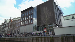 Anne Frank House Museum, Amsterdam, the Netherlands Stock Footage