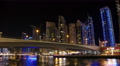4K Dubai Marina night time lapse, United Arab Emirates Footage