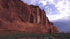 ARCHES NATIONAL PARK, dramatic cliffs Stock Footage