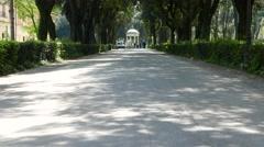 Villa Borghese in Rome Stock Footage