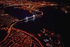Aerial view of city at night, Miami, Florida, USA Kuvituskuvat