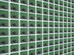 Close up of small circuit boards Stock Photos