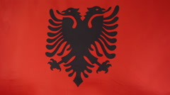 Flag of Albania in the wind, slow motion - stock footage