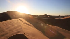 the amazing Erg chebbi dunes in the sahara desert, morocco Stock Footage