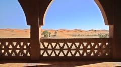 The amazing Erg chebbi dunes in the sahara desert, morocco Stock Footage