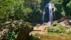 Waterfall Soroa, Cuba Stock Footage