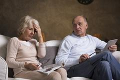 Health problems in older marriage - stock photo
